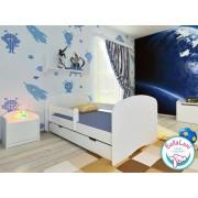 Łóżko dziecięce z szufladą HAPPY - białe 160x80 cm