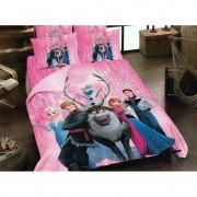 """Детско спално бельо """"Замръзналото кралство"""" розово - 100% памук"""