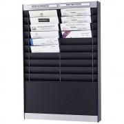 Dokumentensortiertafel 2 x 10 Fächer, DIN A4, Dokumentenlage vertikal schwarz, matt