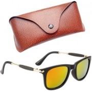 Royce Wayfarer, Retro Square, Rectangular Sunglasses(Yellow, Red)