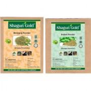 100% Natural Brahmi Leaves And Bhringraj Leaves Powder 100Gm (Pack Of 2)Hair Treatments