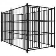 vidaXL Външна клетка за кучета, 300x150x185 см