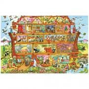 Bigjigs Toys Noah's Ark Floor Puzzle (24 Piece) - Wooden Jigsaw