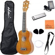 Adm 21 Economic Soprano Ukulele Start Pack With Gig Bag Tuner Mocha