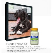 Jigsaw Puzzle Frame Kit - For 19.75x27.5 Inch Puzzles - Craft Medley Puzzle Glue