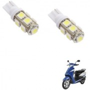 Auto Addict Scooty T10 9 SMD Headlight LED Bulb for Headlights Parking Light Number Plate Light Indicator Light For Indus Yo Xplor