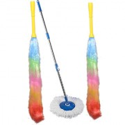 Oanik Home Cleaning Blue Spin Mop with 2 dust stick