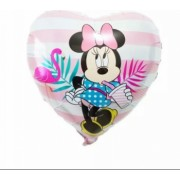 Balon folie inima Minnie Mouse Domi Party and Gifts Multicolor 43cm