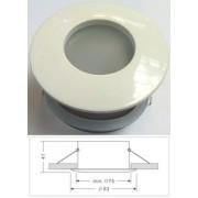 Led beépíthető lámpatest, alumínium IP65, fix, MR16 foglalattal, fehér Life Light led