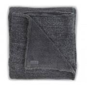 Jollein Плед Jollein Вязаный с мехом Natural knit anthracite 100х150