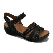 Clarks Women's Delana Varro Black Leather Fashion Sandals - 5 UK/India (38 EU)