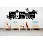 Loving caring sharing quote living room wall sticker.