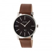 Simplify The 4700 Leather-Band Watch w/Date - Silver/black/Brown SIM4703
