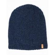Fjallraven Ovik Melange Beanie Hat - Navy Size: ONE SIZE, Colour: Navy