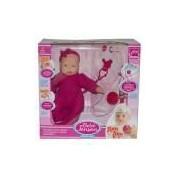 Boneca Bebê Check-me Chora,tosse E Espirra reborn Roma Brinquedos 5433