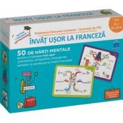 Invat usor la franceza - Clasa pregatitoare clasa I clasa a II a - 50 de harti mentale pentru a intelege mai usor gramatica ortografia