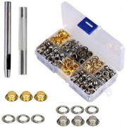 DIY Crafts Grommet Setting Tool Metal Eyelets with Storage Box 1/4 inch Inside Diameter(Pack of 304 Pcs)