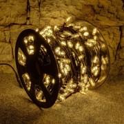 Catena luminosa con MEGA LED - 100 m, 400 diodi a luce bianca calda