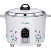 Premier ERC22E Electric Rice Cooker with Steaming Feature(2.2 L, White)