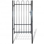 vidaXL Hajlított tetejű kerítés kapu 100 x 175 cm