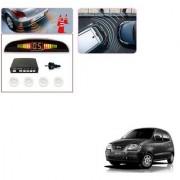 Auto Addict Car White Reverse Parking Sensor With LED Display For Hyundai Santro