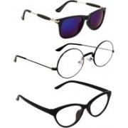 Criba Cat-eye Sunglasses(Clear, Multicolor)