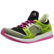 adidas Women's Pure Boost X Tr W Black, Pink and Green Mesh Running Shoes - 6 UK