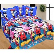 Choco Blue Mickey Mouse Bedsheet pack of 1