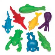Stretchy Flying Sea Creatures - 8 Mini Stretchy Rubber Toys. 7cm-8cm.