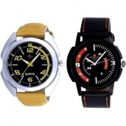 Fancy Yellow Sports Strap And Attractive Sport Design Quartz Combo Analogue Wrist Watch By SCK