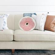 Balvi donut kussen - Roze