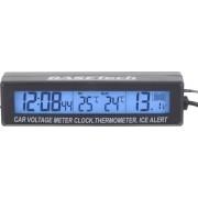 Termometru de interior-exterior cu voltmetru Basetech EC88