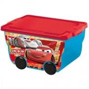 Coffre A Jouets - Cars - Caisse Avec Roulettes 55 L