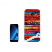 For Samsung Galaxy A7 (2017) / A720 Colorful Blocks Stripe Pattern Tpu Back Case