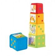 Fisher Price Stack and Explore Blocks, Multi Color