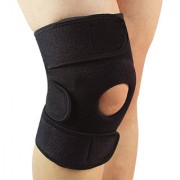GymWar Patella Adjustable Knee Support Knee Cap Knee knee guard Free Size (Black) 1pc