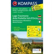 Kompass Carta N.2463: Lago Trasimeno, Area Protetta Val d'Orcia 1:50.000