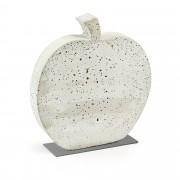 Kave Home Figura decorativa Szar maçã , en Cimento - Branco