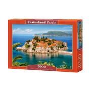 Castorland Pussel Sveti Stefan, Montenegro, 2000 Bitar