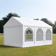 TOOLPORT Partytent 3x6m PVC 550 g/m² wit waterdicht Gartenzelt, Festzelt, Pavillon