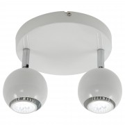 HOMCOM Ceiling Light Rotatable Pendant W/2 Arms, GU10 Base, 40W-White