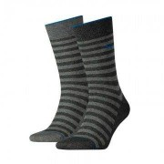 Puma 2-pack Classic Sock Men Antracite Stripe-43-46