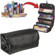Dealcrox Roll N Go Cosmetic Organiser Travel Toiletry Kit(Black)