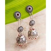 Voylla Abhira Layered Jhumka Drop Earrings