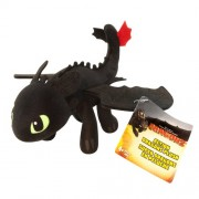 """Dreamworks Dragons, How To Train Your Dragon, Toothless 2 - 8"""" Plush"""