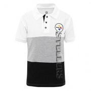 NFL Polo NFL Pittsburgh Steelers Infantil. - - Amarillo+Negro