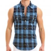 Modus Vivendi Exclusive Muscle Shirts Sleeveless Blue 12932