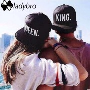 Ladybro Lovers Letter Hip Hop Cap Women Men Hat Cap King. Queen. Cap Male Female Snapback Street Bone Brand Black Baseball Cap