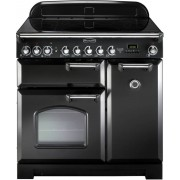 Rangemaster CDL90EIBL/C Classic Deluxe Gloss Black 90cm Induction Range Cooker