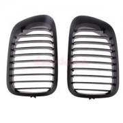 Alcoa Prime Pair Gloss Black Car Auto Grill Grilles for BMW 3 Series E46 99-02